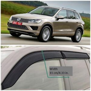 VE23210 Window Visors Sun Guard Vent Wide Deflectors For VW Touareg 2010-2017