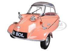 MESSERSCHMITT KR200 BUBBLE CAR ROSE 1/18 DIECAST MODEL CAR BY OXFORD 18MBC003