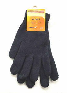 Mens gloves for winter thermal warm black mens size M/L/XL clearance srock