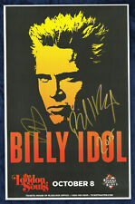 Billy Idol autographed concert poster 2015 Dancing With Myself, Catch My Fall