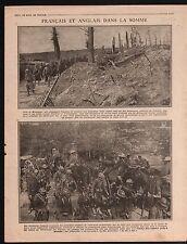 WWI British Army Poilus La Somme Maurepas/Macedonia Vardar War 1916 ILLUSTRATION