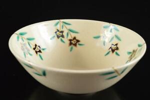 #4491: Japanese Kiyomizu-ware Gold paint TEA BOWL Green tea tool Tea Ceremony