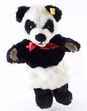 """Panda Bear Puppet Steiff 253522 13"""" w/ Button"""