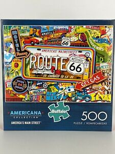 BUFFALO GAMES 500 PIECE PUZZLE AMERICANA COLLECTION AMERICA'S MAIN STREET ~ NEW