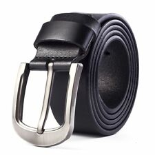Smooth Belt Men Genuine Leather Waistband Waist Strap Men's Belts Pin Buckle