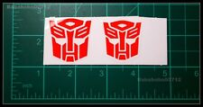 New Autobotos Decepticons Symbol White border hollow large stickers transformers
