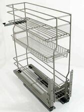 Soft Close 3 Fächer Korb Auszug Küchenunterschrank Unterschränk 15 20cm  #87