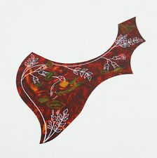 Red Hummingbird Pattern Acoustic Guitar Pickguard Anti-scratch Adhesive Plate