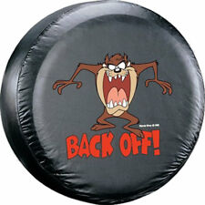 "Taz Back Off Tasmanian Devil Spare Adjustable Tire Cover Fits 27"" - 31"" NEW"