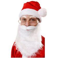 Papá Noel Papá Noel Blanco Barba y Bigote Disfraz Hombre Navidad