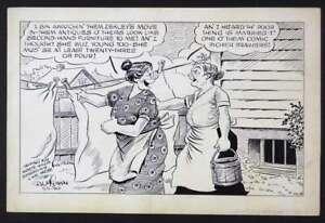 "ORIGINAL SPECIALTY CARTOON PANEL BY ""CAPTAIN MARVEL"" CARTOONIST AL McLEAN 1940"
