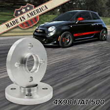 x2 USA MADE | 4x98 (Fits 4 Lug Fiat 500) | 15mm Hub-Centric Billet Wheel Spacers