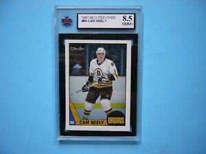 1987/88 O-PEE-CHEE NHL HOCKEY CARD #69 CAM NEELY KSA 8.5 NMMT+ SHARP!! 87/88 OPC