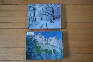 Mount Rushmore and Winter Wonderland Puzzle Lot 1000 Piece