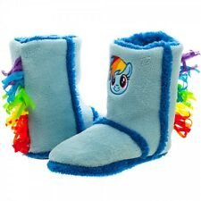 Official MY LITTLE PONY Rainbow Dash Boot Slippers (Small or Medium)