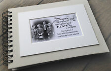 Personalised luxury scrapbook photo album guestbook in loving memory design