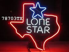 vtg *Authentic* Lone Star Beer Big Texas Neon Sign / Bar Light - shiner pearl