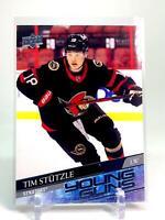 2020-21 Upper Deck Series 2 Young Guns TIM STUTZLE #482 Ottawa Senators