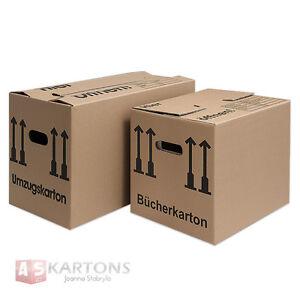 Umzugskartons 1- 2-wellig Bücherkartons 3 Sorten Menge wählbar stabil XXL 40 Kg!
