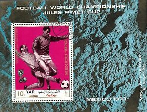 1970 YAR / YEMEN Souvenir Sheet - Airmail - Football World Cup - Mexico