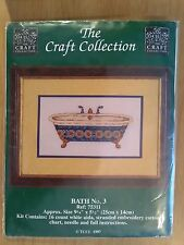 SALE !!! Craft Collection Bath No.3 Cross Stitch Kit Bathing Footed Vintage