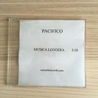Pacifico - Musica Leggera - CD Single PROMO - 2004 Carosello RARO!!!