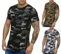 Herren T-Shirt Poloshirt Shirt Camouflage Kurzarm Printshirt Polo 925 John Kayna