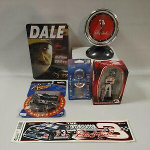 NASCAR Dale Earnhardt Sr. Headlight Alarm Clock, DVD, Ornament, 1:64 Die cast...