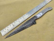 "9.25"" custom made hunting big Damascus steel knife blank blade random 5881"
