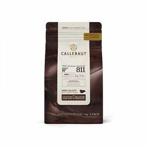 Callebaut No 811 Finest Belgian Dark Chocolate Callets Couverture 54.5% - 1Kg