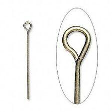 4416FY BULK Antiqued Brass ptd Steel EYEPIN Eye Pin  1-1/4 inch 500 Qty