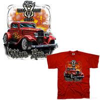 Hot Rod T-Shirt 32`Hi-Boy Ford Deuce american classic car Oldtimer *0197 rot