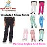 Women Snow Pants Insulated Snowboard Ski Winter Water Resistant Regular Pants