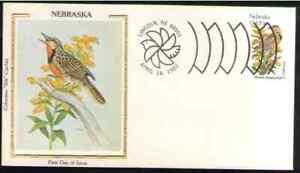 "US. 1979. 20c. NE State Birds & Flowers. Colorano ""Silk"" Cachet FDC. MNH. 1982-1"