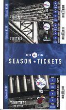 PHILADELPHIA 76ers SIXERS PICK YOUR GAME Ticket Stub 2013-14 - Mint Condition!!!