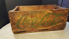 Antique Coca-Cola Wood Carry Case Large Green Letters