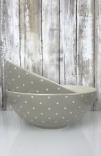"LENOX KATE SPADE ~ Larabee Dot ~ GREY GRAY  SERVING BOWL LARGE 10"" NEW *"