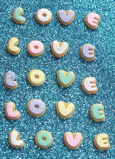 "20 pcs gingerbread cookie ""LOVE"" Word Flatback Cabochon Craft DIY decoden misti"