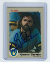 1983 BREWERS Gorman Thomas signed card Fleer #48 AUTO Autographed Milwaukee