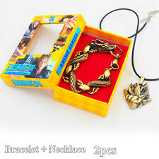 Anime Dragon Ball Z GOKU Pendant Necklace + Bracelet Charm Cosplay Gift 2pcs/box
