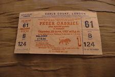 TICKET PETER GABRIEL 1987 UK