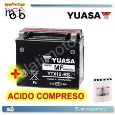 BATTERIA YUASA CON ACIDO PER PIAGGIO VESPA 300 GTS SUPER SPORT 2010 2011 SCOOTER