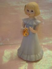 Enesco Growing Up Birthday Girls Blond Blonde 6 years old Figurine Cake Topper