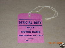 Notre Dame vs. Navy Football Admission Ticket 11-19-32