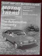 Avanti 1972 prueba de carretera folleto Prospekt Catálogo-Studebaker interés