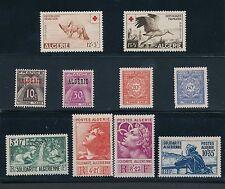 """1946 - 1957 Algeria """"SEMI POSTALS & POSTAGE DUE ISSUES""""; MLH; CAT VALUE $37"""