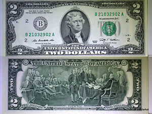 USA billet neuf 2 dollars  PORTE BONHEUR DANS LA  TRADITION AMERICAINE 2009 B