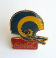 Los Angeles Rams Coca-Cola Metal Helmet Pin - Vintage 1985 NFL Licensed Item L2