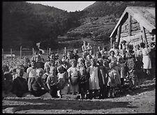 Glass Magic Lantern Slide NORWEGIAN LOCATION NO46 C1930 PHOTO NORWAY CHILDREN