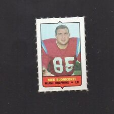 1969 TOPPS FOUR IN ONE (4 IN 1) NICK BUONICONTI MIAMI DOLPHINS FB